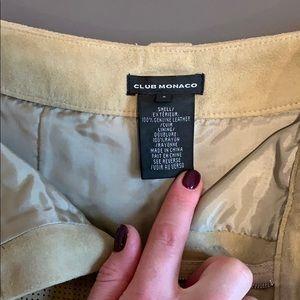 Club Monaco Skirts - Club Monaco suede skirt size 0. Gently worn